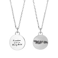 Braille Necklace - Courage