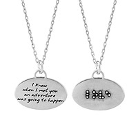 Braille Necklace - Love