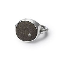 Solitaire Pebble Ring