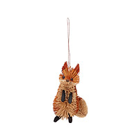 Buri Fiber Fox Ornament