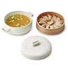 Ceramic and Terracotta Steamer Set