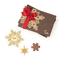Maple Wood Personalized Snowflake Ornament