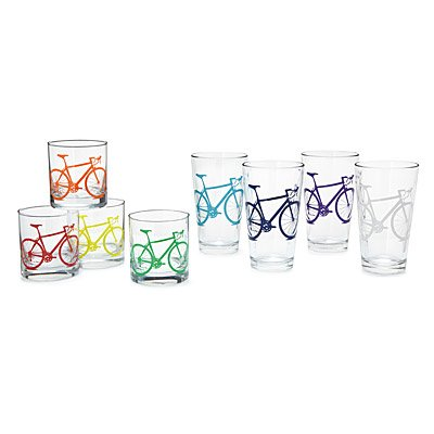 BICYCLE TUMBLERS - SET OF 8