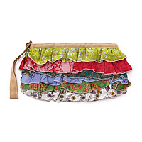 Upcycled Sari Clutch