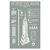 Empire State Building Infographic Screenprint