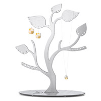 Steel Leaves Jewelry Tree