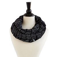 Black Beauty Literary Scarf and Writing Gloves