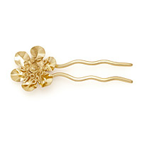 GOLD MADYTOS FLOWER HAIR PIN