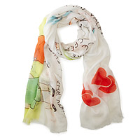 Be My Valentine Vintage Card Scarf