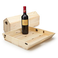 Convertible Wine Bottle Carrier and Serving Tray