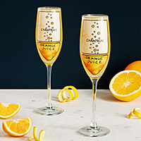 Mimosa Diagram Glassware - Set of 2