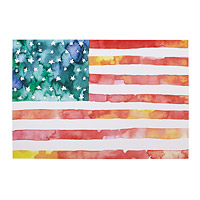 American Flag Watercolor
