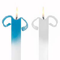 Curling Taper Candles - Set of 2