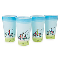 PERSONALIZED FAMILY BIKE GLASSWARE