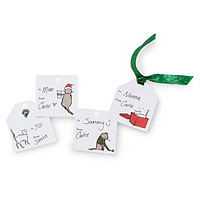 Printable Cat Tao Holiday Gift Tags