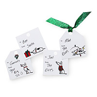 Printable Bad Dog Holiday Gift Tags