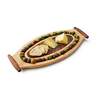 Wooden Olive and Cheese Board