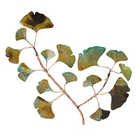 Copper Patina Ginkgo Wall Piece