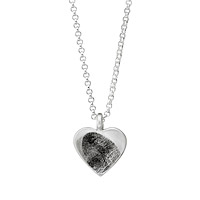 Custom Heart Shaped Fingerprint Necklace