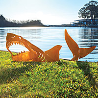 Shark Lawn Sculpture