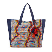 Beaded Embroidered Tote