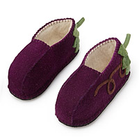 Foodie Slippers Eggplant