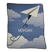 PERSONALIZED PAPER AIRPLANE THROW