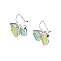 Sea Glass Double Drop Earrings