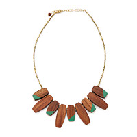 Colorblock Teal Necklace