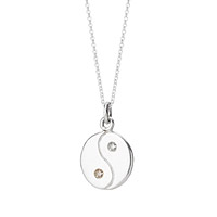 Diamond Yin Yang Necklace