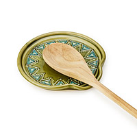 Slip Trailed Spoon Rest
