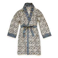 Blue Hand Block Print Robe