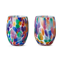 Party Stemless Wine Glasses - Set of 2