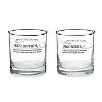 Devil's Dictionary Medicine Glasses - Set of 2