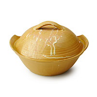 Golden Lidded Casserole Dish