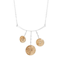 Mixed Metals Ripples Statement Necklace