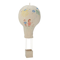 Coloring Hot Air Balloon Mobile