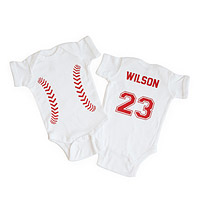 Personalized Baseball Babysuit
