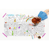 Food Fight Jumbo Coloring Poster