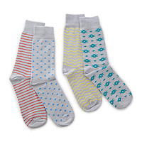 Mismatched swap socks 4 pack -Sidewalk Chalk