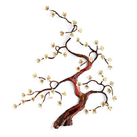 Blooming Bonsai Wall Sculpture