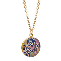 Graffiti Brass Pendant