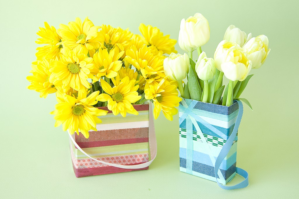 Recycled May Day Baskets