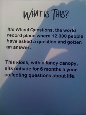 wheel questions
