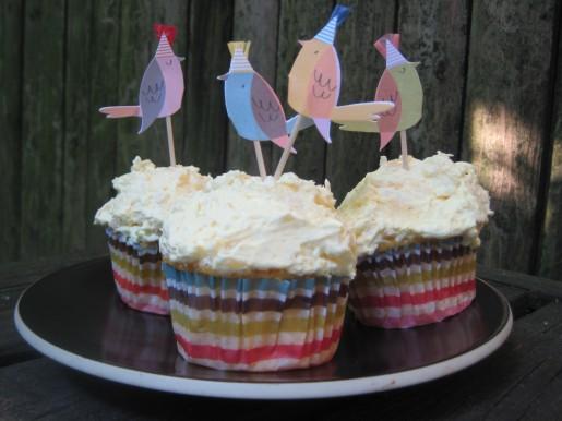 orange pineapple cupcakes