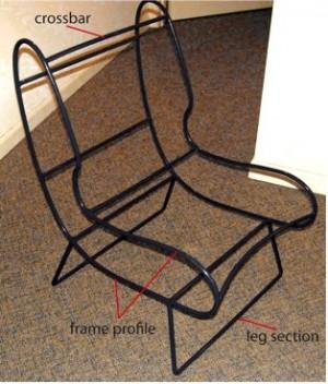Seatbelt chair frame