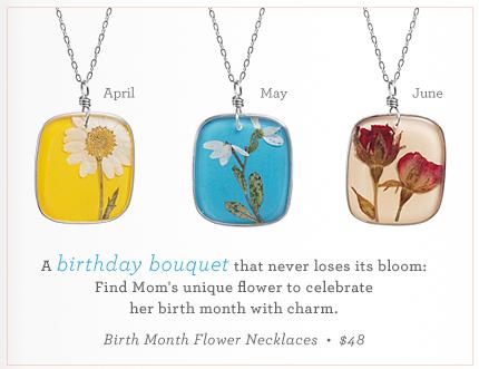 Birth Month Flower Necklace
