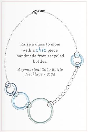 Asymmetrical Sake Bottle Necklace