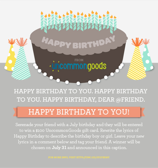 happy birthday to you july birthdays the goods