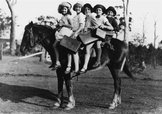 children-riding-a-horse-to-school-glass-house-mountains-queensland-1928-small